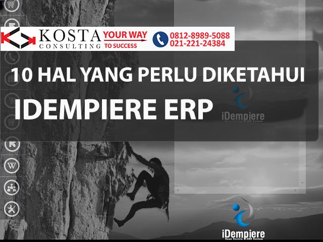 10 hal yang perlu diketahui soal idempiere, software erp, compiere, software adempiere, idempiere, erp consultant, kosta consulting, pt kreasi solusi teknologi